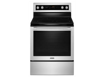 """30"""" Maytag WIDE ELECTRIC RANGE WITH TRUE CONVECTION AND POWER PREHEAT - 6.4 CU. FT. YMER8800FZ"""