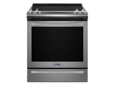 """30"""" Maytag 6.4 Cu. Ft. Electric Range With True Convection And Power Preheat - YMES8800FZ"""