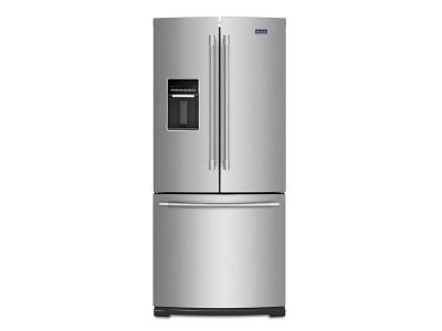 """30"""" Maytag 20 Cu. Ft. French Door Refrigerator With Exterior Water Dispenser - MFW2055FRZ"""