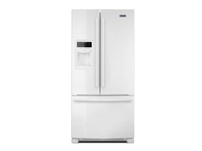 """33"""" Maytag 22 Cu. Ft. French Door Refrigerator with Beverage Chiller Compartment - MFI2269FRW"""