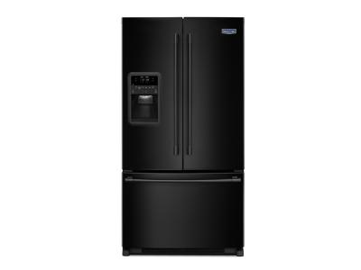 """33"""" Maytag 22 Cu. Ft. French Door Refrigerator with Beverage Chiller Compartment - MFI2269FRB"""