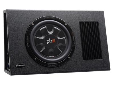 PowerBass Single 10 Inch RMS Amplified Slim Subwoofer Enclosure - PSAWB101T