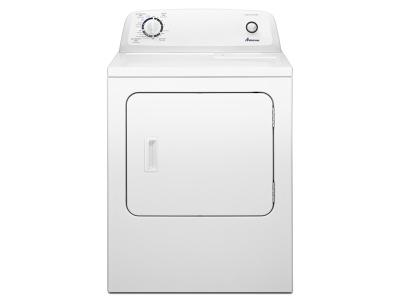 """29"""" 6.5 cu. ft.  Amana Top-Load Electric Dryer with Automatic Dryness Control - YNED4655EW"""