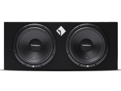 Rockford Fosgate Prime 400 Watt Loaded Enclosure With Dual 12 Inch Subwoofers - R1-2X12