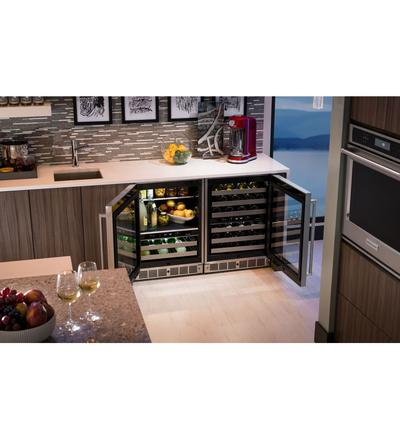 """24"""" KitchenAid Stainless Steel Beverage Center with SatinGlide Metal-Front Racks - KUBL304ESS"""