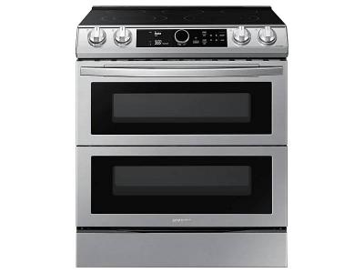 """30"""" Samsung 6.3 Cu. Ft. Electric Range With Flex Duo And Air Fry In Stainless Steel - NE63T8751SS"""