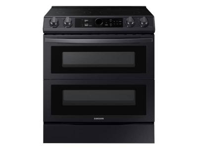 """30"""" Samsung 6.3 Cu. Ft. Electric Range With Flex Duo And Air Fry In Black Stainless Steel - NE63T8751SG"""