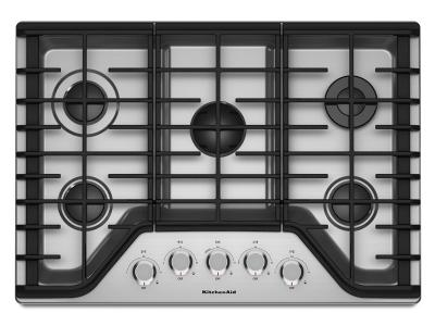 "30"" KitchenAid 5-Burner Gas Cooktop - KCGS350ESS"