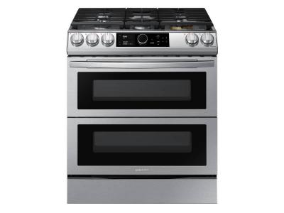 """30"""" Samsung 6.3 Cu. Ft. Dual Fuel Range With True Convection And Air Fry - NY63T8751SS"""