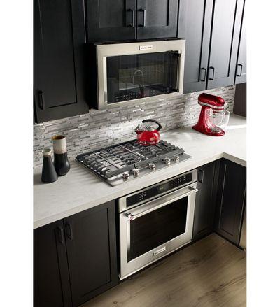 "30"" KitchenAid 5-Burner Gas Cooktop - KCGS550ESS"