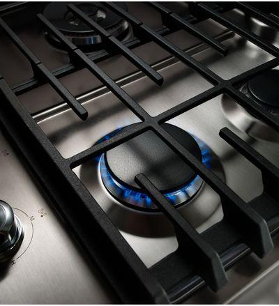 "36"" KitchenAid 5 Burner Gas Cooktop With Griddle - KCGS956ESS"
