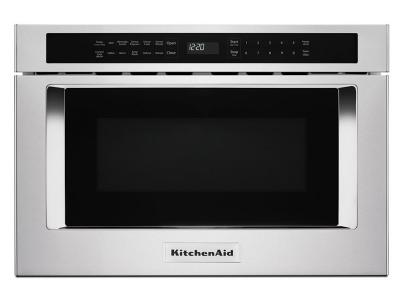 """24"""" KitchenAid 1.2 Cu. Ft. Under-Counter Microwave Oven Drawer - KMBD104GSS"""