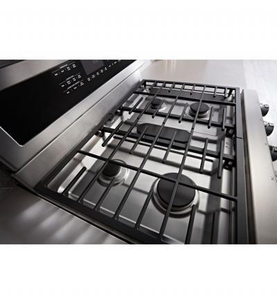 "30"" KitchenAid 5 Burner Gas Double Oven Convection Range - KFGD500ESS"