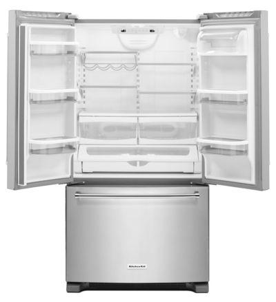 "36"" KitchenAid 20 cu. ft. Width Counter-Depth French Door Refrigerator with Interior Dispense - KRFC300ESS"