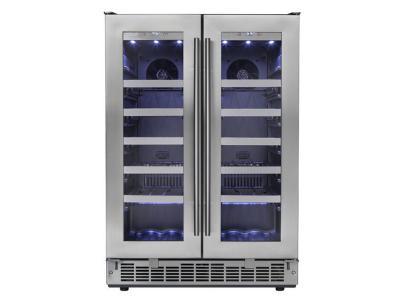 "24"" Silhouette  Napa  French Door Wine Cooler - DWC047D1BSSPR"