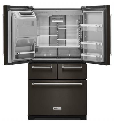"""36"""" KitchenAid 25.8 Cu. Ft. Multi-Door Freestanding Refrigerator With Platinum Interior Design - KRMF706ESS"""