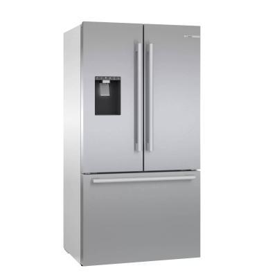 """36"""" Bosch 20.8 Cu. Ft. French Door Refrigerator Thru Door Ice Dispenser - B36CD50SNS"""