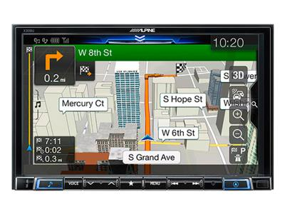 Alpine 8-inch WVGA High-Resolution Capacitive Touch Display - X308U