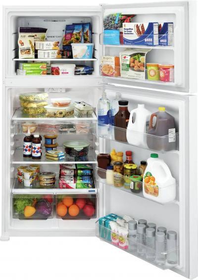 "30"" Frigidaire 20.0 Cu. Ft. Capacity Top Freezer Refrigerator in White - FFHT2045VW"
