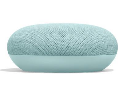 Google Smart Speaker With Built in Google Assistant In Aqua - Home Mini (Aqua)
