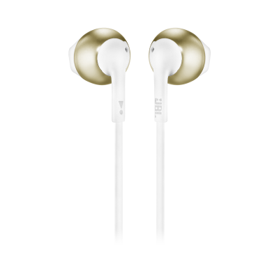 JBL TUNE 205BT Wireless Earbud Headphones In Champagne Gold - JBLT205BTCGDAM