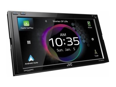 JVC Digital Media Receiver with Bluetooth , Clear Resistive Touch Monitor - KW-M865BW
