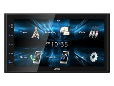 JVC Digital Media Receiver With WVGA Capacitive Monitor And USB Mirroring for Android Phones - KW-M150BT