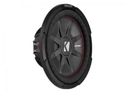 """12"""" Kicker CompRT All-weather Slim Subwoofer with a 1Ω Dual Voice Coil - 43CWRT121"""
