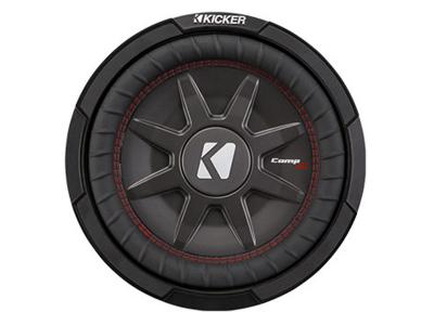 """10"""" Kicker CompRT All-weather Thin Mount Subwoofer with Dual 1Ω Voice Coils - 43CWRT101"""