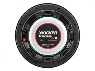 """8"""" Kicker CompRT All-weather Thin Subwoofer with a pair of 1Ω Voice Coils - 43CWRT81"""