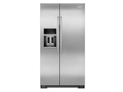 """36"""" KitchenAid 19.9 Cu Ft. Counter-Depth Side-by-Side Refrigerator - KRSC700HPS"""