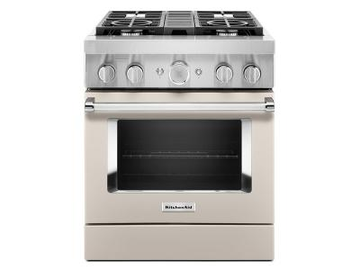 "30"" KitchenAid 4.1 Cu. Ft. Smart Commercial-Style Dual Fuel Range With 4 Burners - KFDC500JMH"