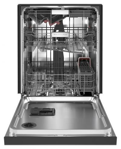 "24"" KitchenAid 44 dBA Dishwasher in PrintShield Finish with FreeFlex Third Rack - KDFM404KBS"