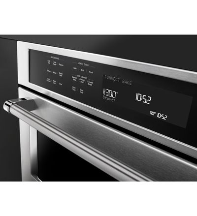 """30"""" KitchenAid Combination Wall Oven With Even-Heat True Convection (lower oven) - KOCE500EBL"""
