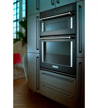 """30"""" KitchenAid Combination Wall Oven With Even-Heat True Convection (lower oven) - KOCE500EBS"""