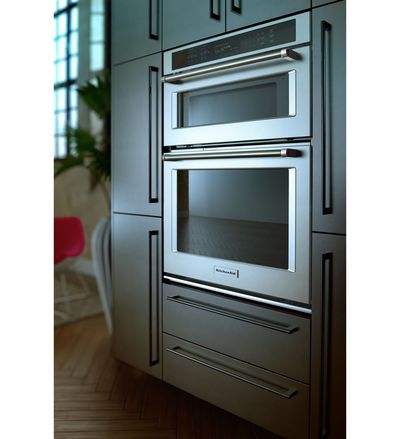 """30"""" KitchenAid Combination Wall Oven With Even-Heat  True Convection (lower oven) - KOCE500ESS"""