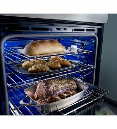"""27"""" KitchenAid Combination Wall Oven With Even-Heat True Convection (lower oven) - KOCE507EBL"""