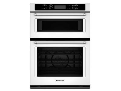 """27"""" KitchenAid Combination Wall Oven With Even-Heat True Convection (lower oven) - KOCE507EWH"""
