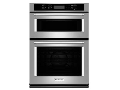 """27"""" KitchenAid Combination Wall Oven With Even-Heat True Convection (lower oven) - KOCE507ESS"""