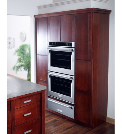 """30"""" KitchenAid Double Wall Oven With Even-Heat True Convection - KODE500ESS"""