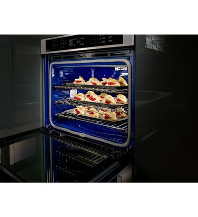 """30"""" KitchenAid Double Wall Oven With Even-Heat True Convection - KODE500EBL"""