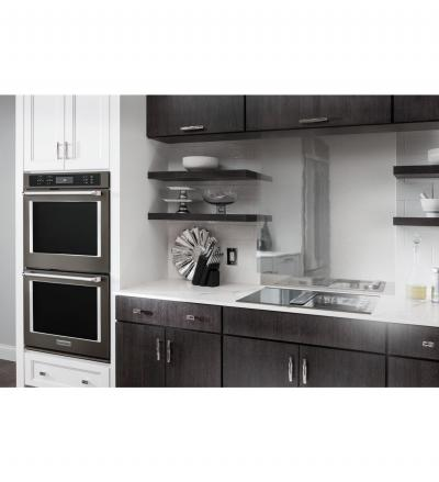 """30"""" KitchenAid Double Wall Oven With Even-Heat True Convection - KODE500EBS"""