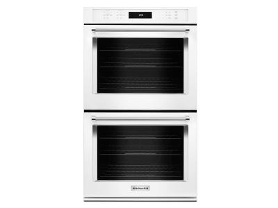 """30"""" KitchenAid Double Wall Oven With Even-Heat True Convection - KODE500EWH"""