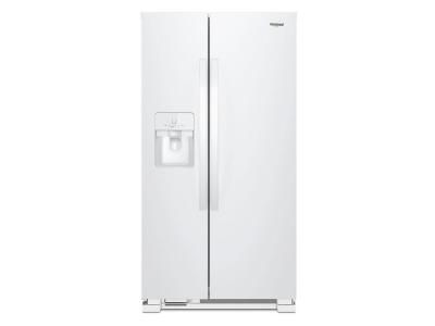 """33"""" Whirlpool 21 Cu. Ft. Side-by-Side Refrigerator - WRS321SDHW"""