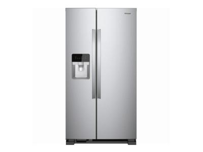 """33"""" Whirlpool 21 Cu. Ft. Side-by-Side Refrigerator - WRS331SDHM"""