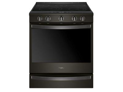 """30"""" Whirlpool 6.4 Cu. Ft. Smart Slide-in Electric Range with Frozen Bake Technology - YWEE750H0HV"""