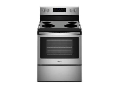 """30"""" Whirlpool 5.3 Cu. Ft. Electric Freestanding Range With True Convection Cooking - YWFE521S0HS"""