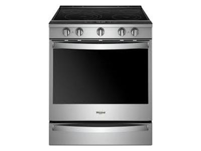 """30"""" Whirlpool 6.4 Cu. Ft. Smart Slide-in Electric Range With Frozen Bake Technology - YWEE750H0HZ"""