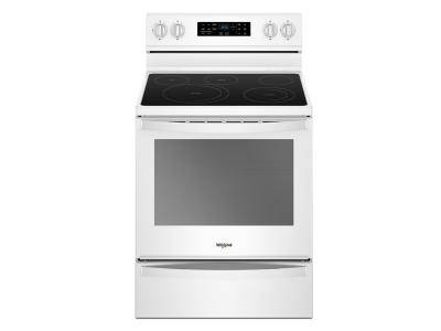 """30"""" Whirlpool 6.4 Cu. Ft. Freestanding Electric Range With Frozen Bake Technology - YWFE775H0HW"""