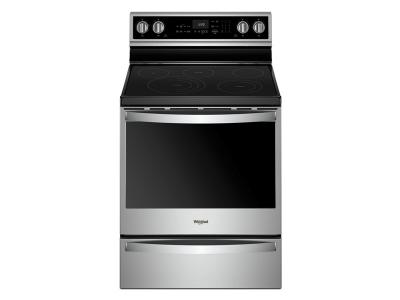 """30"""" Whirlpool 6.4 Cu. Ft. Smart Freestanding Electric Range with Frozen Bake Technology - YWFE975H0HZ"""